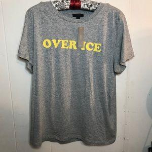 "J. Crew Tops - J. Crew NWT Tee ""Over Ice"" graphic shirt"